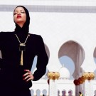 Rihanna at abu dhabi mosque 4
