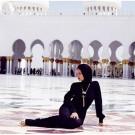Rihanna at abu dhabi mosque 5