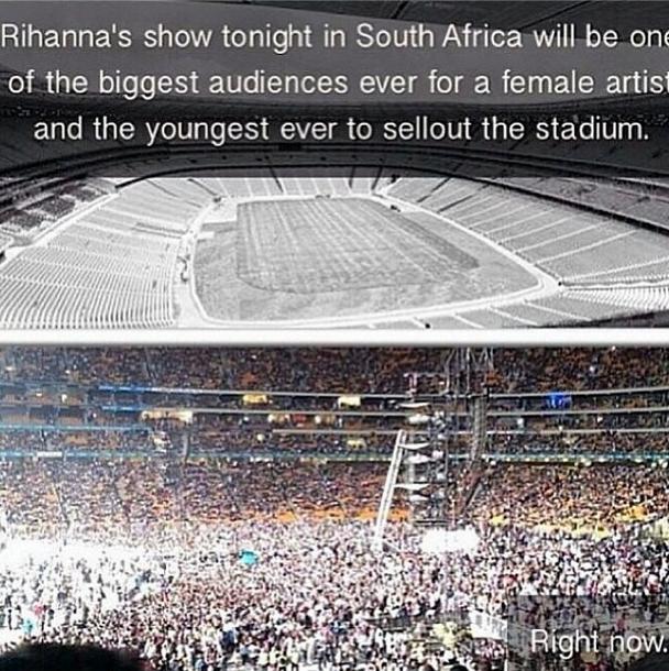 Rihanna concert south africa