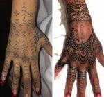 Rihanna new henna hand tattoo