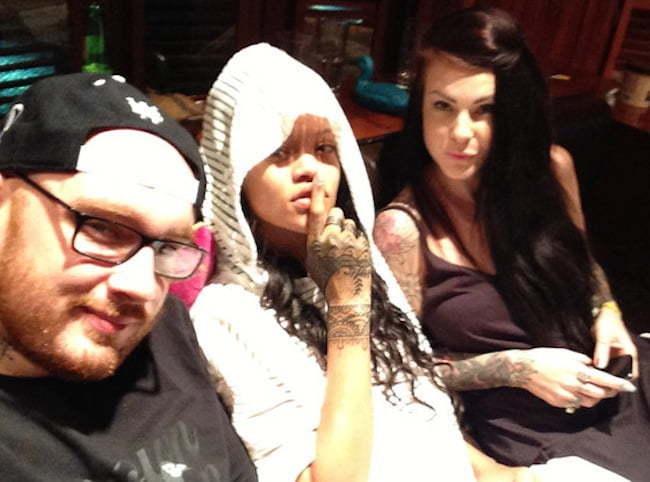 Rihanna tattoo artist