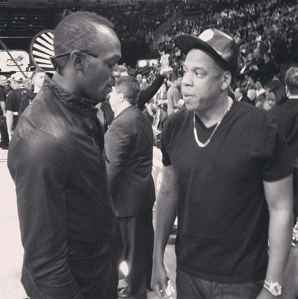 Usain Bolt and Jay-Z