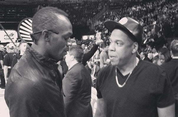 Usain Bolt and Jay-Z