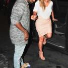 K Kardashian and Kanye