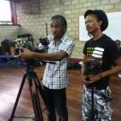 Director Damanic Green with DP Gareth Cobran