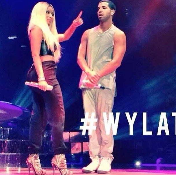 Drake and Nicki Minaj on stage