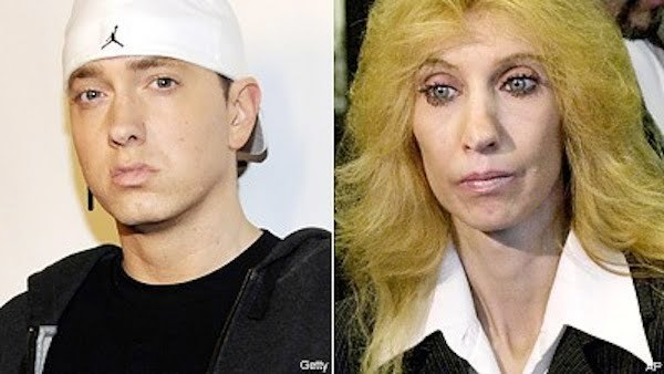 Eminem and mother Debbie Mathers