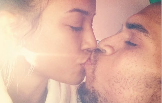 Karrueche and Chris Brown kiss