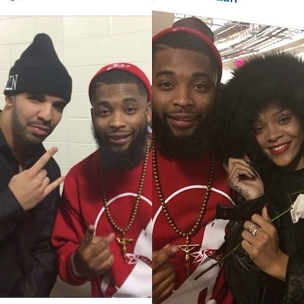 Rihanna and Drake at concert