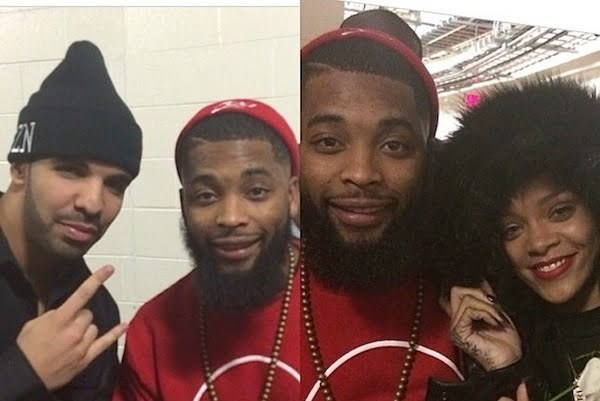 Rihanna and Drake at concert