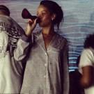 Rihanna drinking from stilleto