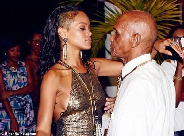 Rihanna grandfather birthday bash 2