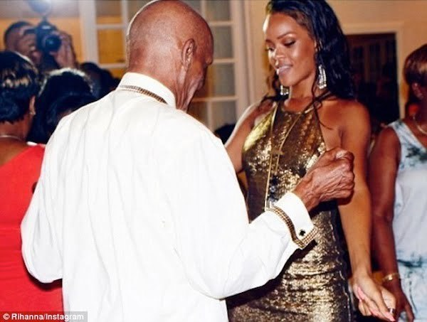 Rihanna grandfather birthday bash 3