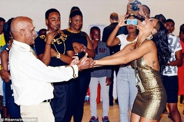 Rihanna grandfather birthday bash 4