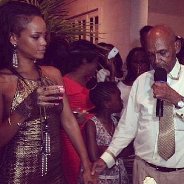 Rihanna grandfather birthday bash 6