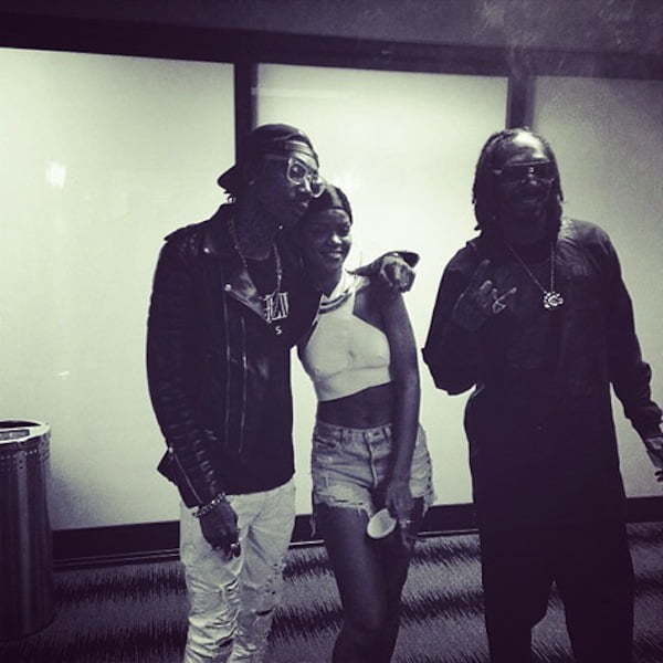 Rihanna wiz khalifa and snoop dogg 1