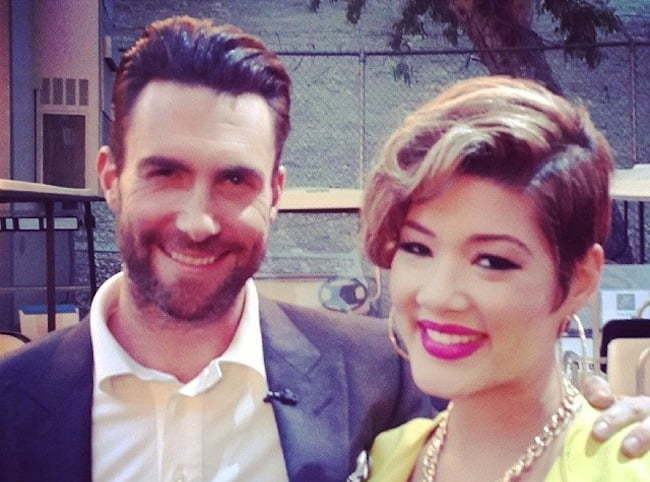Tessanne Chin and Adam Levine