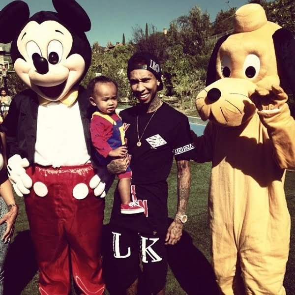 Tyga and his son King Cairo