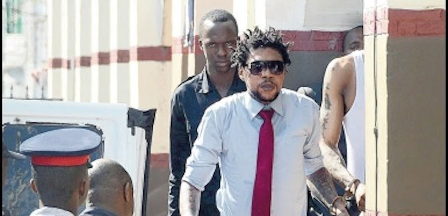 Vybz-kartel outside court