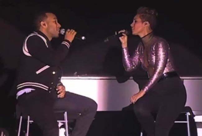 Alicia Keys and John Legend
