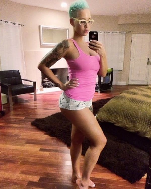 Amber Rose post baby body