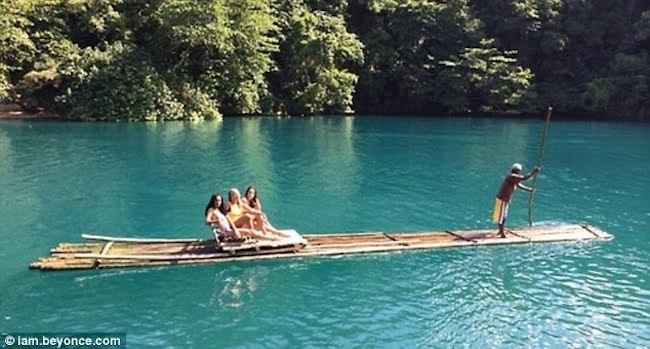Beyonce solange bamboo raft Jamaica