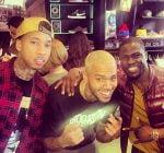 Chris Brown tyga and Kevin Hart
