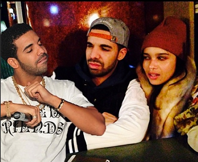 Drake and Zoe Kravitz pic