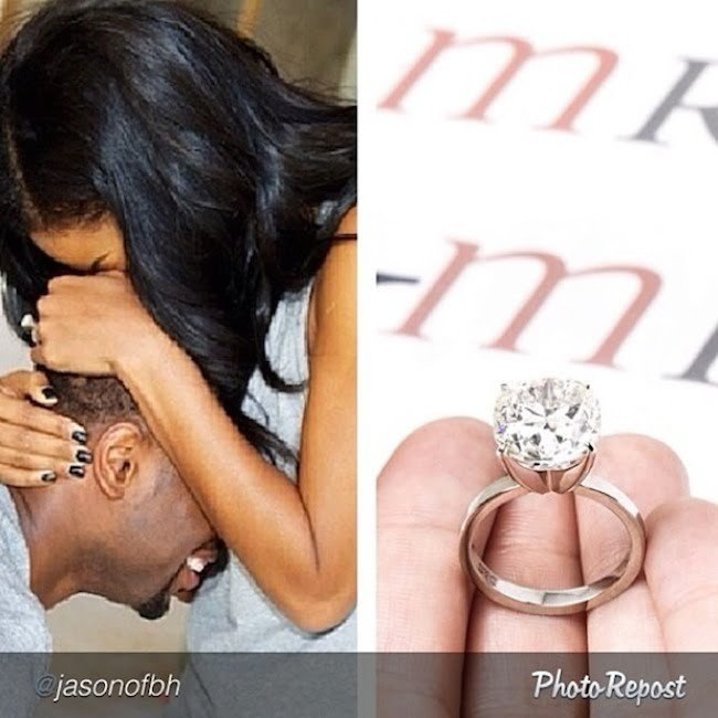 Dwayne Wade and Gabrielle Union engaged