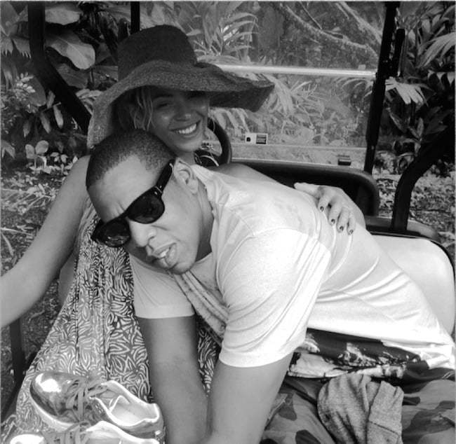 Jay-Z and Beyonce in Jamaica