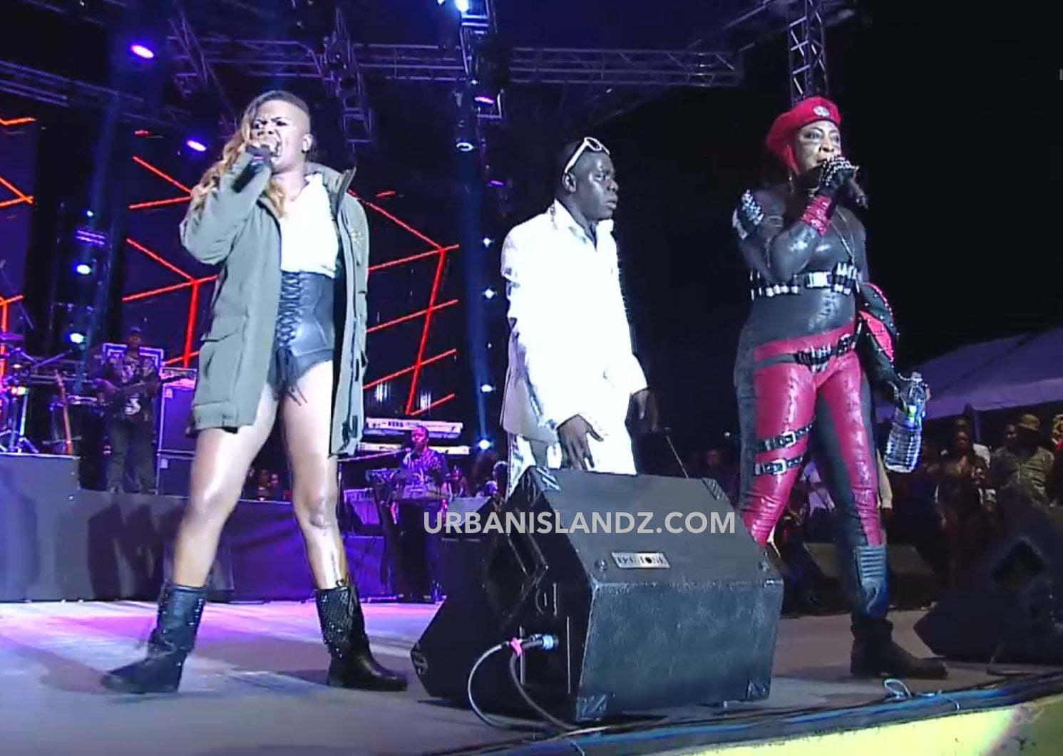 Lady Saw and Macka Diamond clash Sting