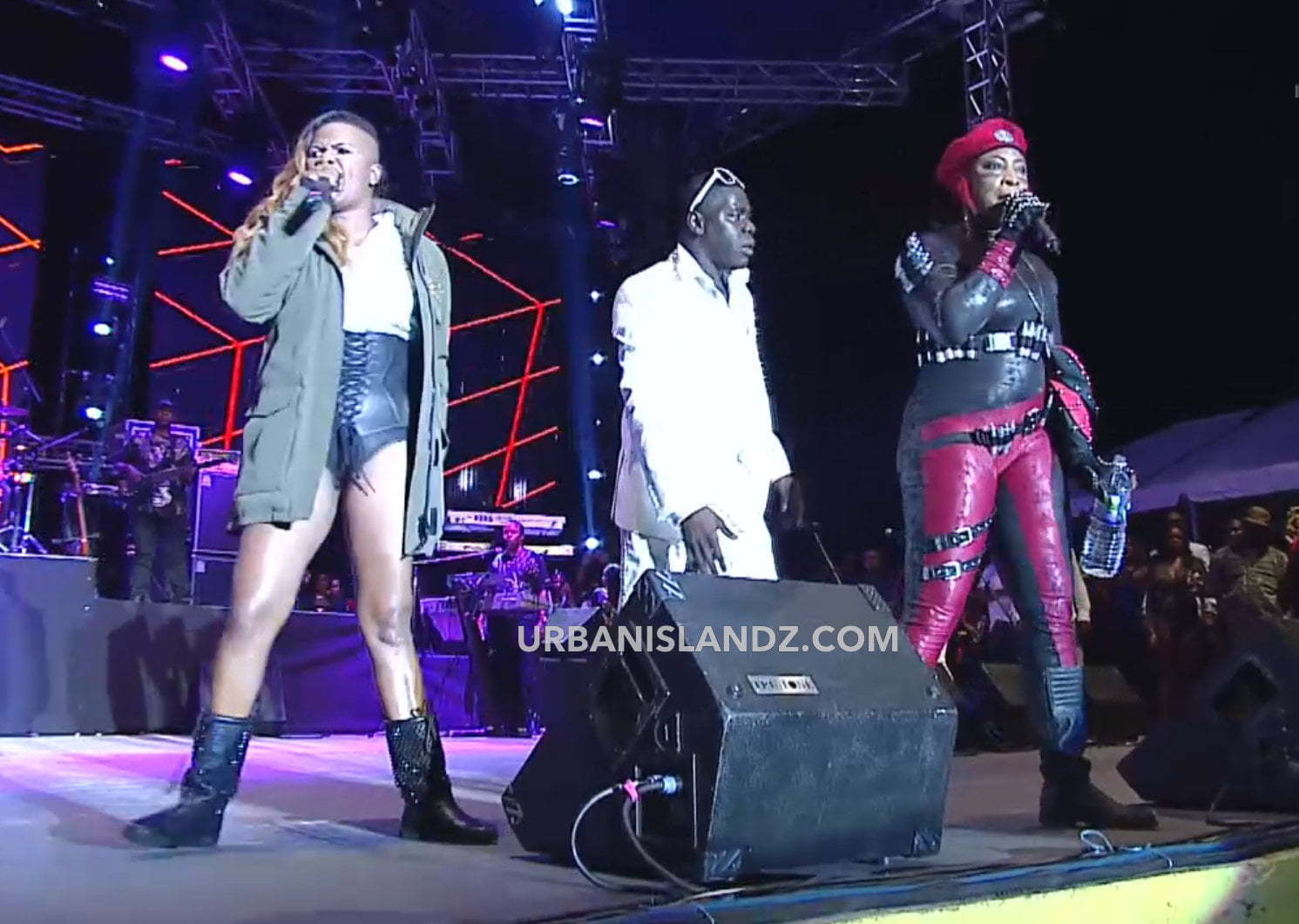 Lady Saw and Macka Diamond clash Sting