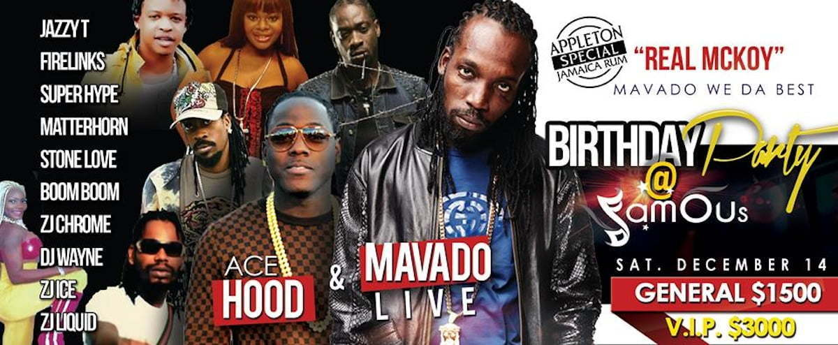 Mavado birthday bash poster
