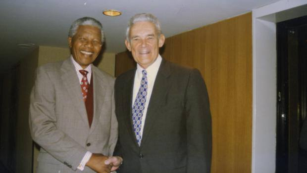 Nelson Mandela and Michael Manley