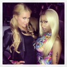 Nicki Minaj Paris Hilton at Jayz show