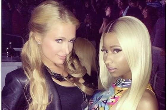 Nicki Minaj Paris Hilton at Jayz show