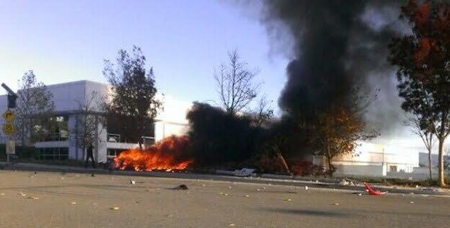 Paul Walker crash scene pic