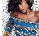 Rihanna face of balmain
