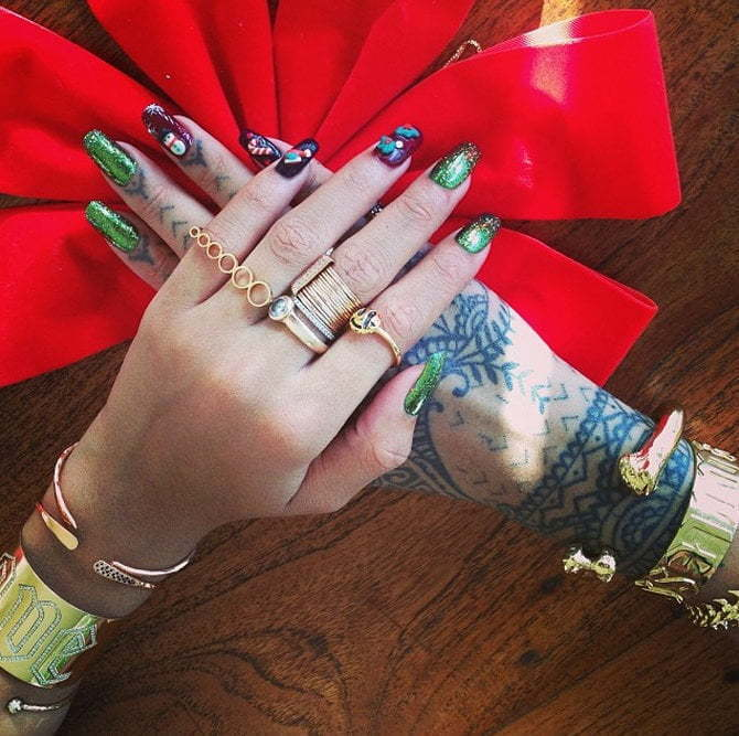 Rihanna gold jewelry