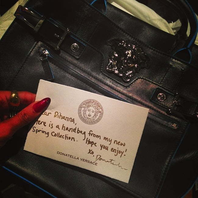 Rihanna versace bag