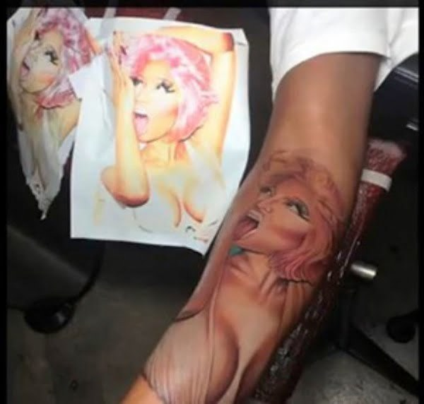 Safaree nicki minaj tattoo
