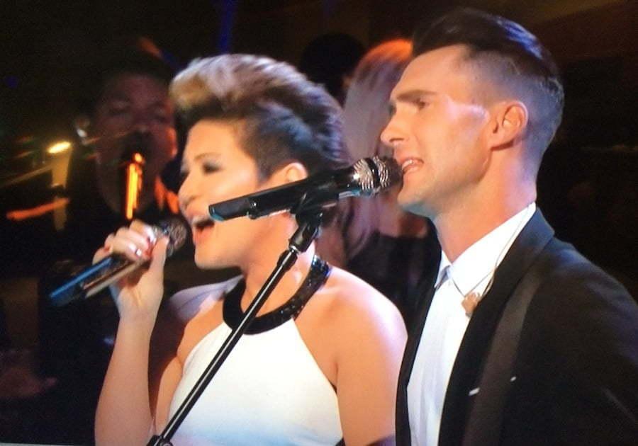 Tessanne Chin and Adam Levine The Voice