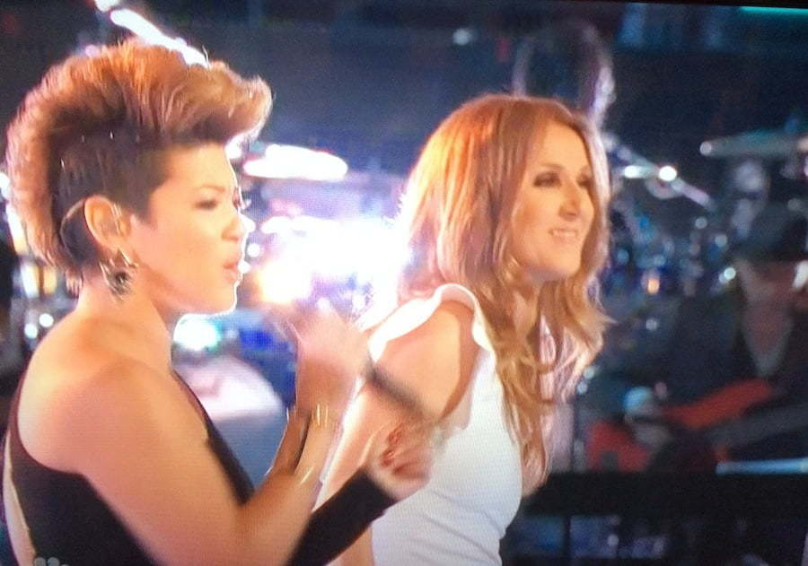 Tessanne Chin and Celine Dion The Voice