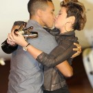 Tessanne Chin kiss husband Michael Cuffe
