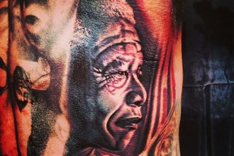 The Game Tribute Nelson Mandela With Giant Tattoo