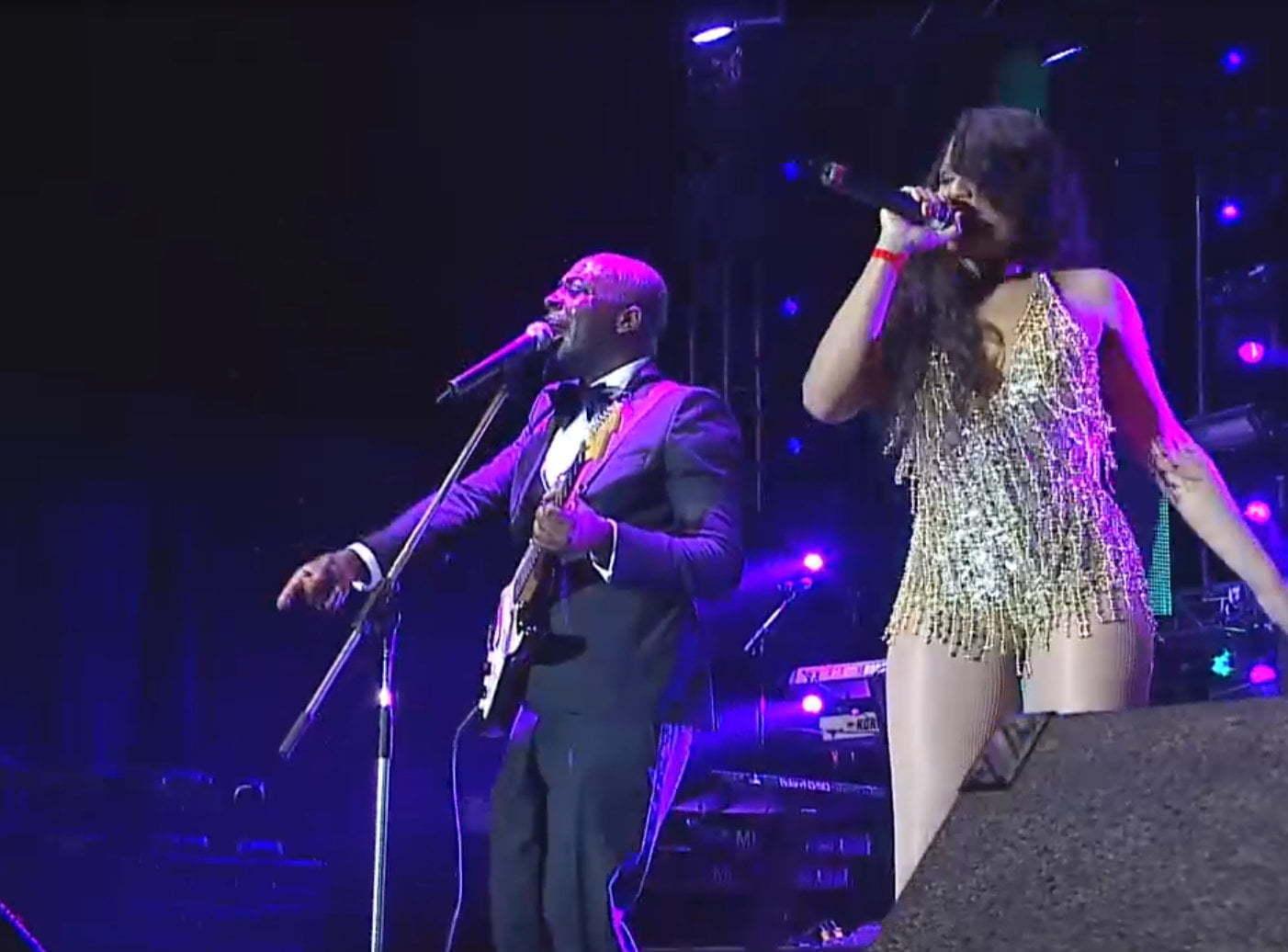 Wyclef and Ishawna Sting