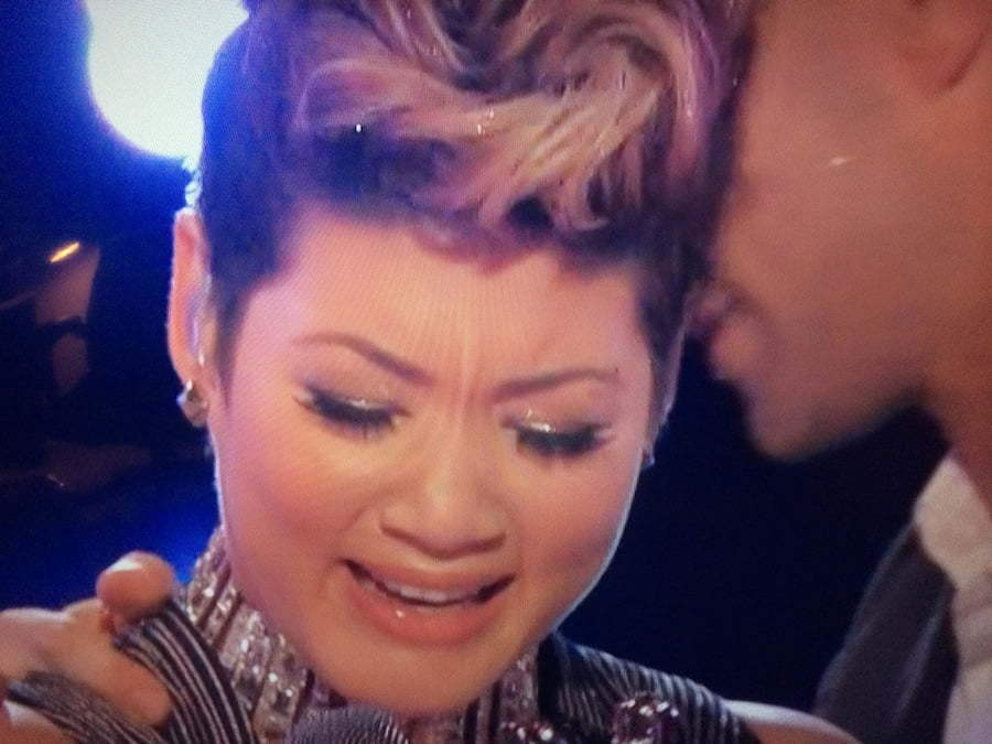 Tessanne Chin crying on The Voice final