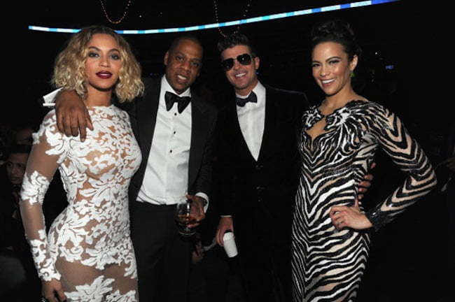 Beyonce Jay Z Robin Thicke and Paula Patton