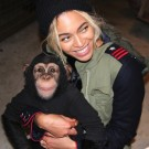 Beyonce and a monkey