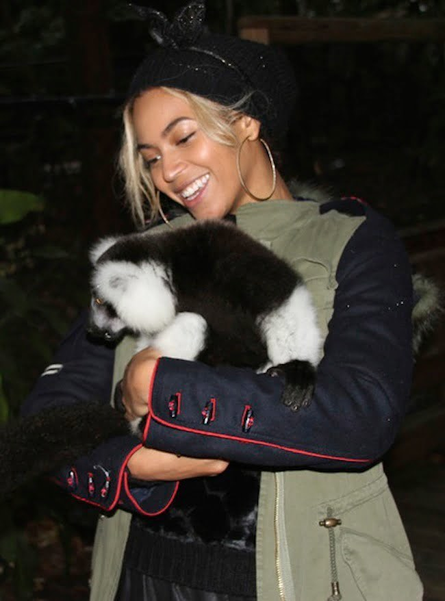 Beyonce at the zoo